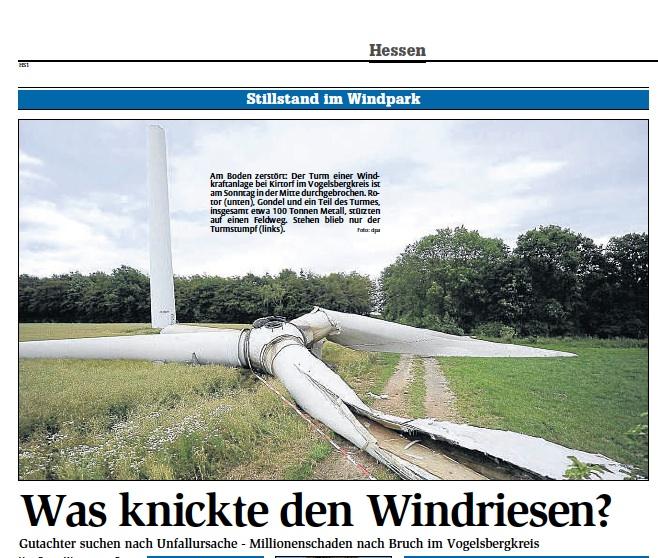 was knickte den windriesen zeitungsbericht aus hna juni 2011