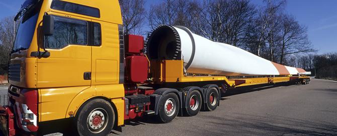 WKA-Transport mit LKW