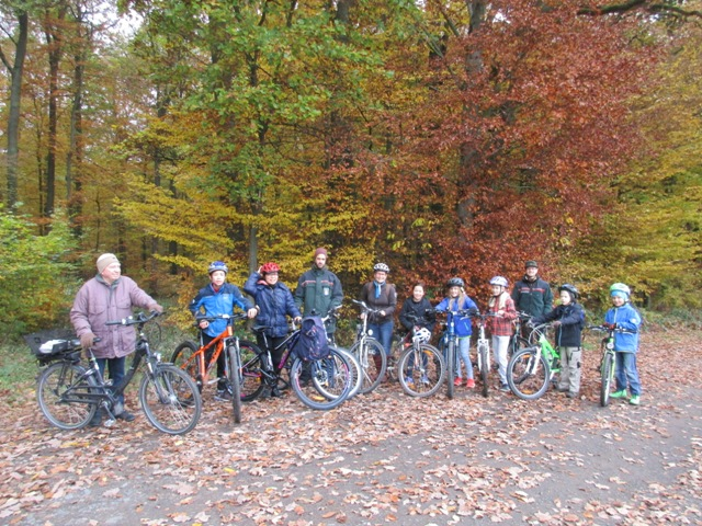 Schöner Ausblick auf Fahrradtour mit Förster